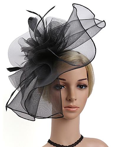 cheap Women's Headpieces-Women's Kentucky Derby Fashion Elegant Fabric Cubic Zirconia Head Jewelry-Solid Colored / Wedding / All Seasons