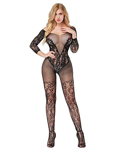 Pentru femei Costume Pijamale - Plasă, Jacquard