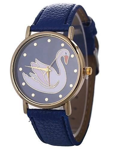 Xu™ Pentru femei Ceas de Mână Chineză Creative / Ceas Casual / Adorabil PU Bandă Modă / Elegant Negru / Alb / Albastru