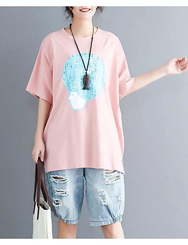 tricoul pentru femei - gât rotund cu litere / culori