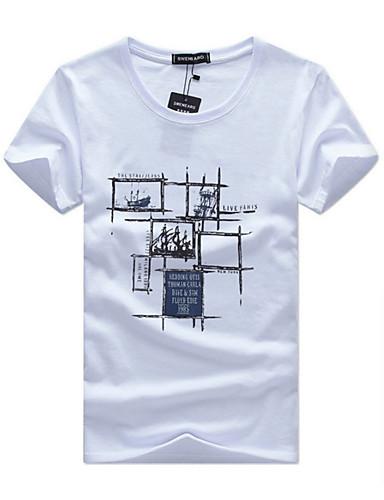 Bărbați Tricou Șic Stradă - Geometric
