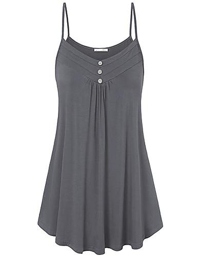 billige Kjoler-Dame Store størrelser Grunnleggende Oversized Skiftet Kjole - Ensfarget Med stropper Mini