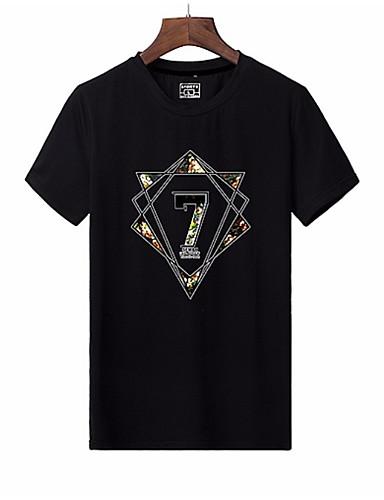 Bărbați Tricou De Bază - Geometric Imprimeu