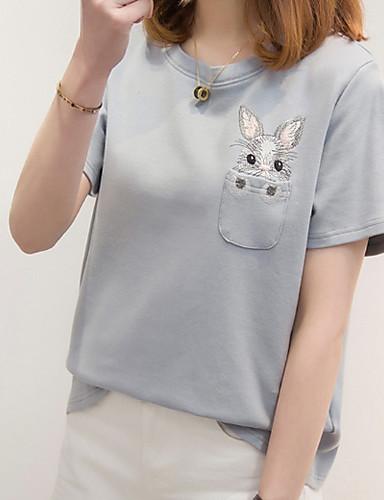 Pentru femei Tricou Bumbac De Bază - Mată