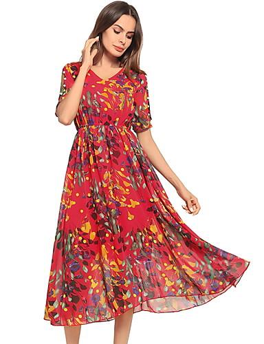 Pentru femei Swing Rochie Floral Midi
