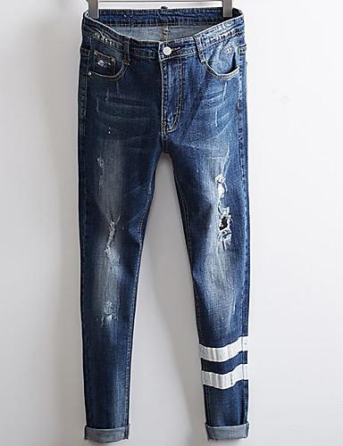 Bărbați De Bază Blugi Pantaloni Geometric