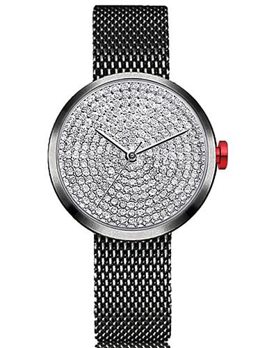 Pentru femei Ceas de Mână Quartz Cronograf Încântător imitație de diamant Oțel inoxidabil Bandă Analog Atârnat minimalist Negru / Argint / Auriu - Negru / Argintiu Roz auriu / Alb Negru / Roz auriu