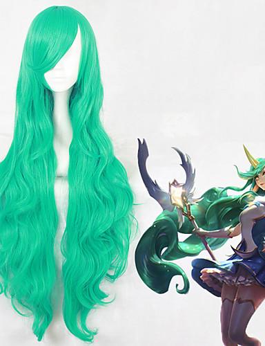 voordelige Cosplay Pruiken-Cosplay Cosplay Cosplaypruiken Allemaal 16 inch(es) Hittebestendige vezel Groen Anime