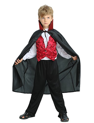 4edc02f31 Cosplay Costume Child's Boys' Halloween Halloween Carnival Children's Day  Festival / Holiday Polyster Black Carnival Costumes Solid Colored Halloween