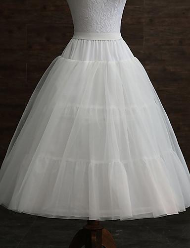 abordables Dessous de Robe de Mariage-Mariage / Soirée / Fête Déshabillés Polyester Longueur de robe Jupons amincissants / Long avec Plissé