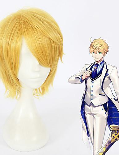 voordelige Cosplay Pruiken-Fate / Grand Order Arthur Pendragon Cosplaypruiken Unisex 12 inch(es) Hittebestendige vezel Blond Anime