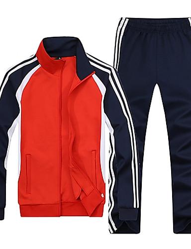 abordables Survêtements pour Homme-Homme Basique Pantalon - Rayé Bleu / Manches Longues