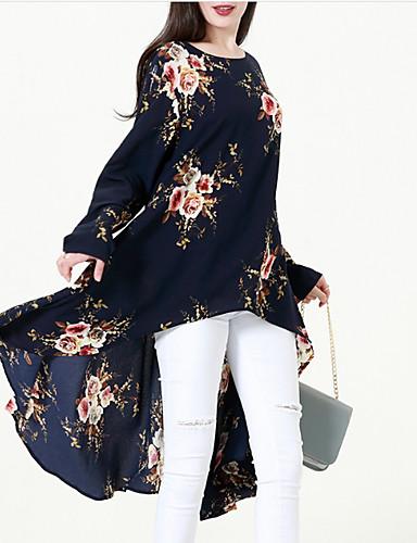 abordables Hauts pour Femme-Tee-shirt Grandes Tailles Femme, Fleur Sortie