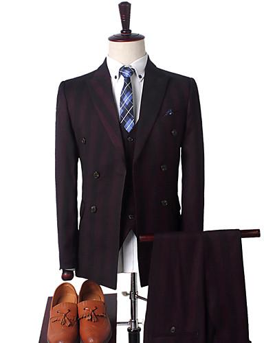 odijela Muškarci Prugasti uzorak,Zašiljeni rever / Dugih rukava