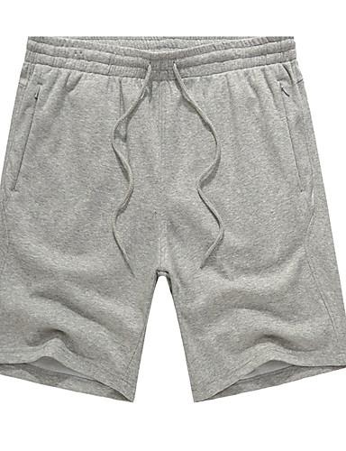 Muškarci Osnovni Veći konfekcijski brojevi Pamuk Slim Chinos / Kratke hlače Hlače Jednobojni