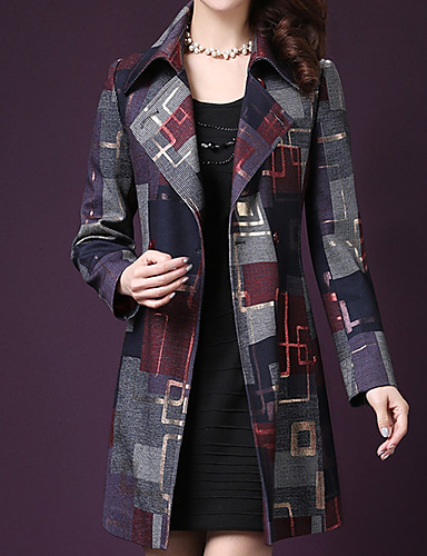 67eb2e72ada Women s Going out Street chic   Sophisticated Fall   Winter Plus Size Long  Coat