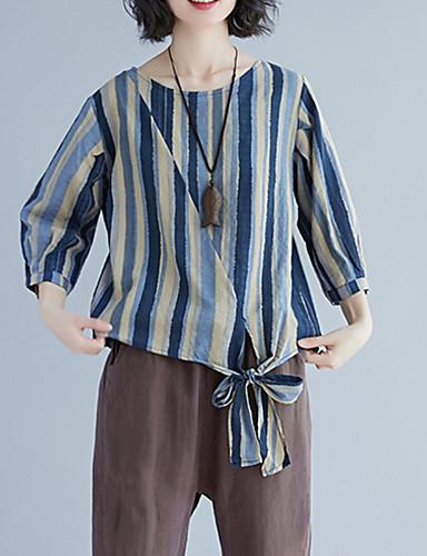 Majica s rukavima Žene - Vintage Dnevno Prugasti uzorak Print