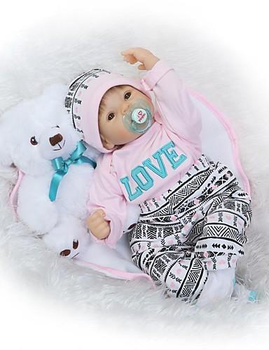 povoljno Igračke i hobiji-NPKCOLLECTION NPK DOLL Autentične bebe Djevojka lutka Za ženske bebe 24 inch novorođenče vjeran Dar Interakcija roditelja i djece Ručni primijenjeni trepavice Uvučene i zapečene nokte Dječjom