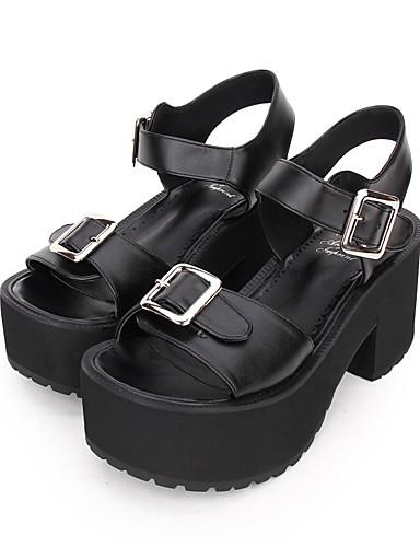 4335e2b000 Lolita Shoes Gothic Lolita Dress Punk Lolita Dress Punk Gothic Wedge Heel  Shoes Solid Color 8 cm CM Black / Black For Women's PU(Polyurethane) 855