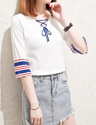 Žene Osnovni Pullover - Print, Color block