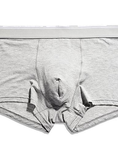 voordelige Herenondergoed & Zwemkleding-Standaard, Effen Boxer Heren Hoge taille / Hoge taille