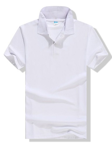 Men S Work Basic Plus Size Cotton Polo Solid Colored Shirt Collar