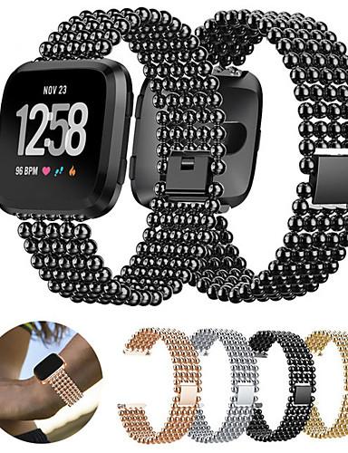 Horlogeband voor Fitbit Versa Fitbit Sportband Roestvrij staal Polsband