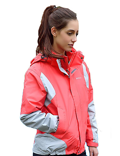 cheap Outdoor Clothing-BSwolf Women's Hiking Jacket Outdoor Autumn / Fall Spring Windproof Rain Waterproof Breathability YKK Zipper Top Single Slider Camping / Hiking Climbing Outdoor Exercise Green / Pink / Violet
