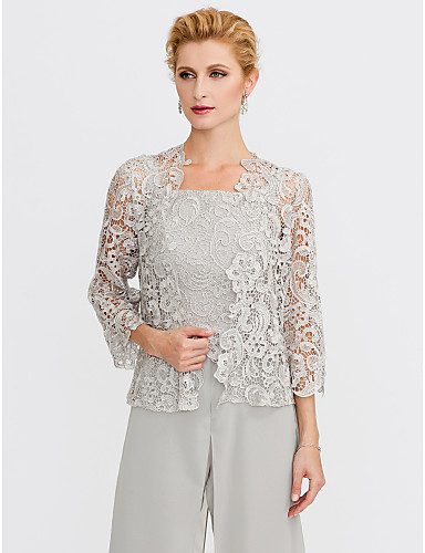 aa6d0383b55 3 4 Length Sleeve Lace Wedding   Party   Evening Women s Wrap With Lace  Shrugs