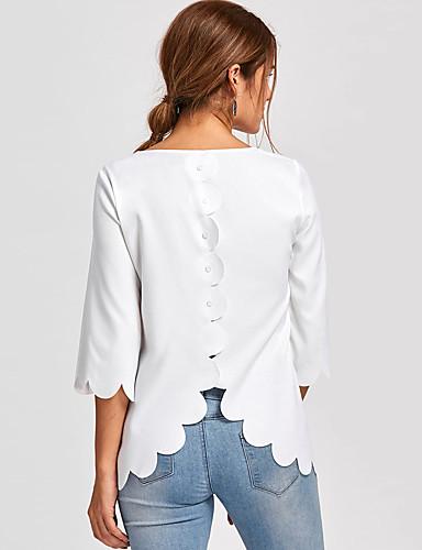 billige Dametopper-T-skjorte Dame - Ensfarget Gatemote Hvit