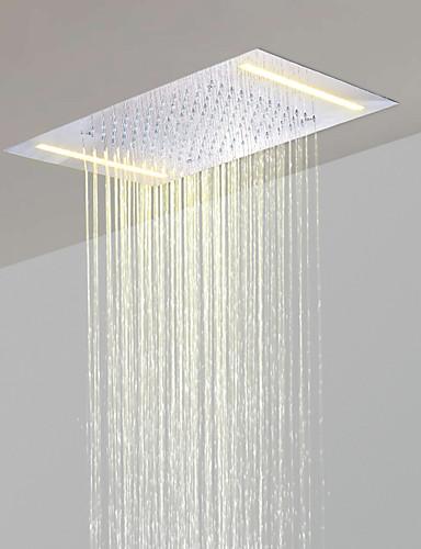 abordables Pommeaux de Douche LED-acier inoxydable 304 110v ~ 220v courant alternatif pomme de douche salle de précipitations avec des économies d'énergie lampes led