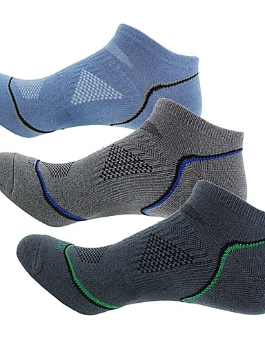 cheap Compression Clothing-Compression Socks Sport Socks / Athletic Socks Cycling Socks Men's Bike / Cycling Breathable 3 Pairs Stripes Cotton Other Dark Grey Blue Grey One-Size / Stretchy