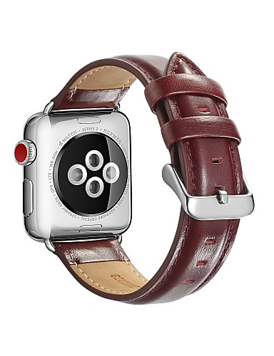 dc35d5d83 شعر العجل حزام حزام إلى Apple Watch Series 3 / 2 / 1 أسود / أحمر ...