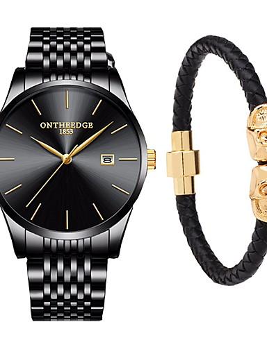46a53803e cheap Steel Band Watches-Men's Dress Watch Japanese Quartz Gift Set