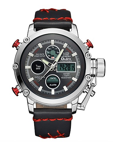23fed41407 Oulm Men's Sport Watch Military Watch Japanese Japanese Quartz 30 m ...