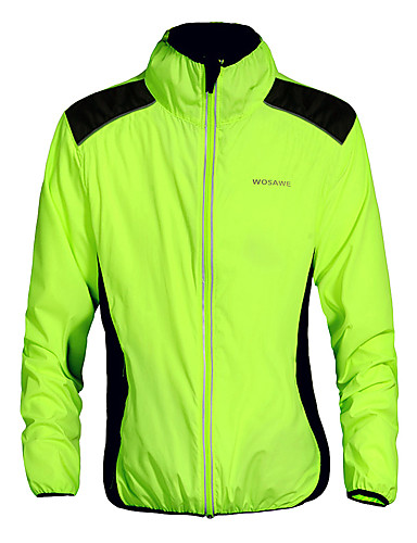 cheap Cycling Jackets-WOSAWE Men's Women's Cycling Jacket Bike Jacket Top Windproof Breathable Quick Dry Sports Green Mountain Bike MTB Road Bike Cycling Clothing Apparel Advanced Relaxed Fit Bike Wear / Stretchy