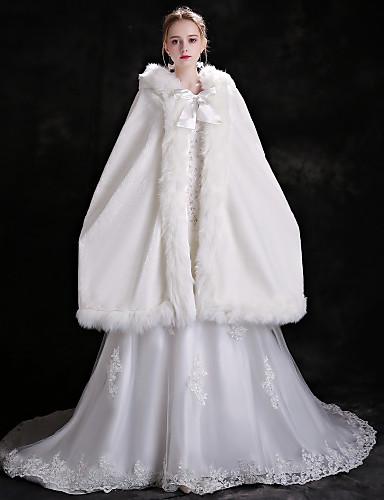 billige Brudesjaler-Ermeløs Fuskepels Bryllup / Bursdag Sjal til kvinner Med Snøring Cape