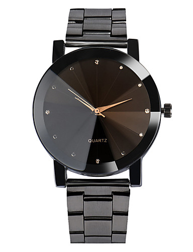 Men's Wrist Watch Quartz Stainless Steel Black / Silver Water Resistant / Waterproof Casual Watch Analog Casual Fashion - Black Silver