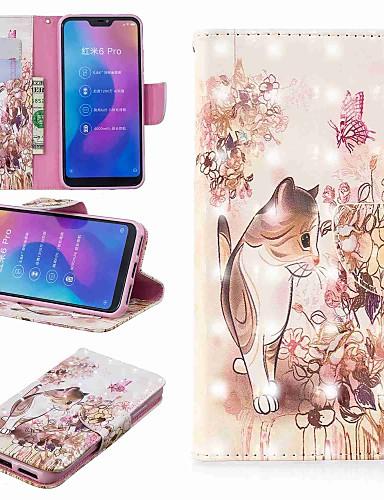 Θήκη Za Xiaomi Redmi Note 5A / Xiaomi Redmi Note 5 Pro / Xiaomi Redmi Note 6 Novčanik / Utor za kartice / sa stalkom Korice Mačka Tvrdo PU koža