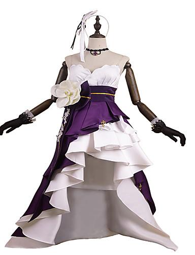 """billige Anime cosplay-Inspirert av PrettyCure Prinsesse Anime  """"Cosplay-kostymer"""" Cosplay Klær / Kjoler Mote Ermeløs Hansker / Belte / Hårbånd Til Dame"""