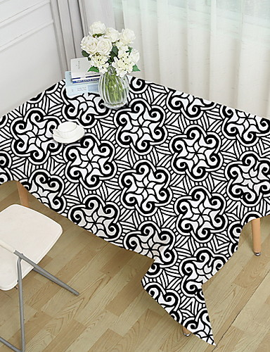 cheap Table Cloths-Contemporary 100g / m2 Polyester Knit Stretch Square Table Cloth Geometric Table Decorations 1 pcs