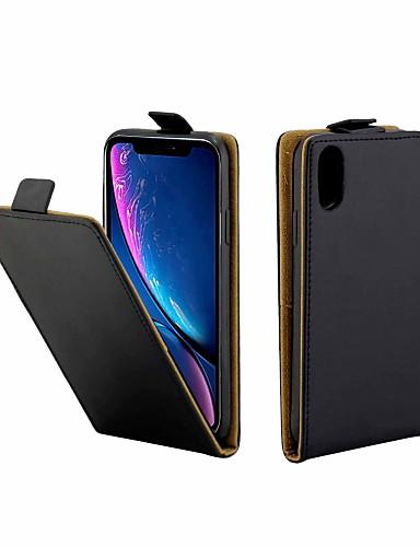 Θήκη Za Apple iPhone XS / iPhone X Utor za kartice / Zaokret Korice Jednobojni Tvrdo PU koža