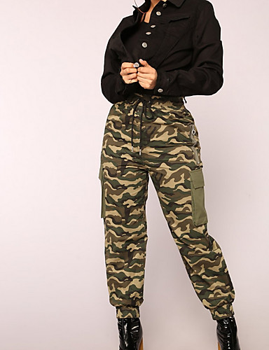 Women s Cotton Loose Chinos Pants - Solid Colored Army Green 7029798 ... 890290e697