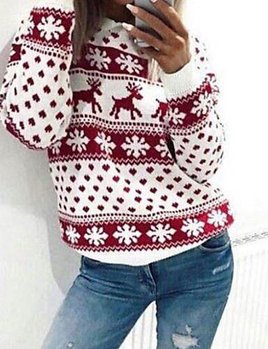 abordables Hauts pour Femmes-Femme Basique Sweatshirt Géométrique