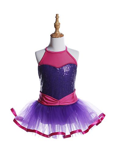 preiswerte Ballettbekleidung-Ballett Kleider Mädchen Training / Leistung Elasthan / Tüll / Pailletten Schärpe / Band / Pailetten Ärmellos Kleid