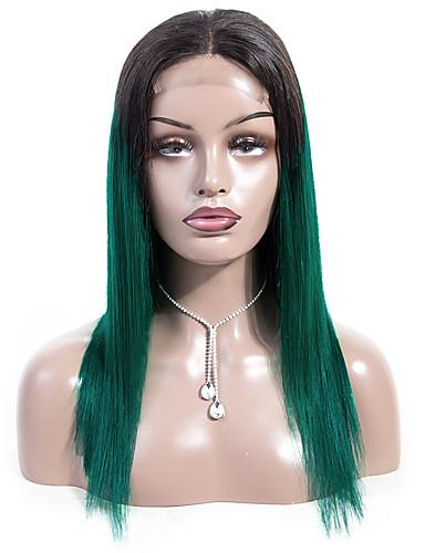povoljno Perike s ljudskom kosom-Ljudska kosa Lace Front Perika Bob frizura Wendy stil Brazilska kosa Ravan kroj Perika 130% Gustoća kose Najbolja kvaliteta Novi Dolazak Rasprodaja Žene Srednja dužina Perike s ljudskom kosom Laflare