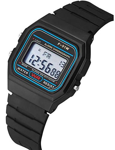 Çiftlerin Bilek Saati Dijital Silikon Siyah Takvim Kronograf Gece Parlayan Dijital Halhal Minimalist - Siyah Bir yıl Pil Ömrü / SSUO 377
