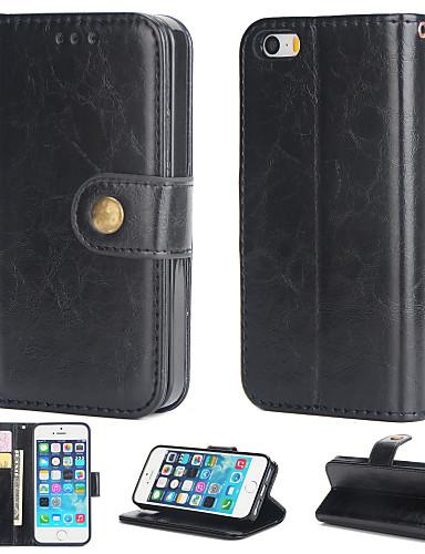 Θήκη Za Apple iPhone 5 Novčanik / Utor za kartice / Zaokret Stražnja maska Jednobojni Mekano PU koža