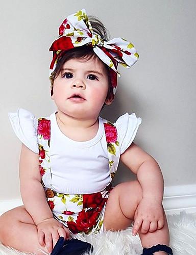 Compiacente Bambino (1-4 Anni) Da Ragazza Essenziale Quotidiano Fantasia Floreale Con Stampe Cotone - Acrilico Pantaloni Arcobaleno #07049543