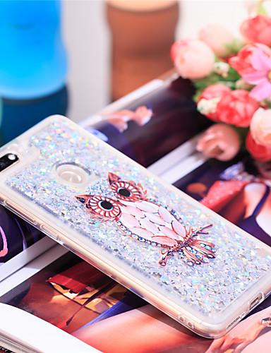 Θήκη Za Huawei Honor 7C(Enjoy 8) Otporno na trešnju / Šljokice Stražnja maska Sova / Šljokice Mekano TPU